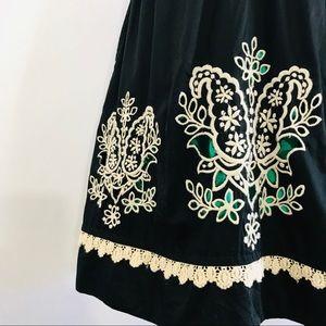 Anthropologie Dresses - FLOREAT Sanora Black Floral Embroidered Dress
